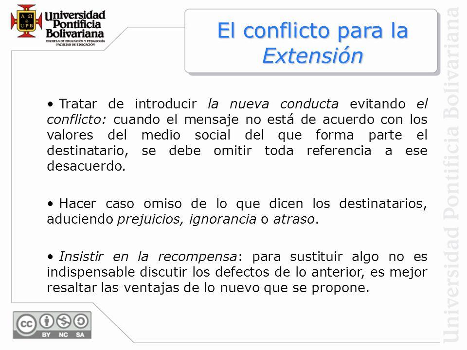 El conflicto para la Extensión