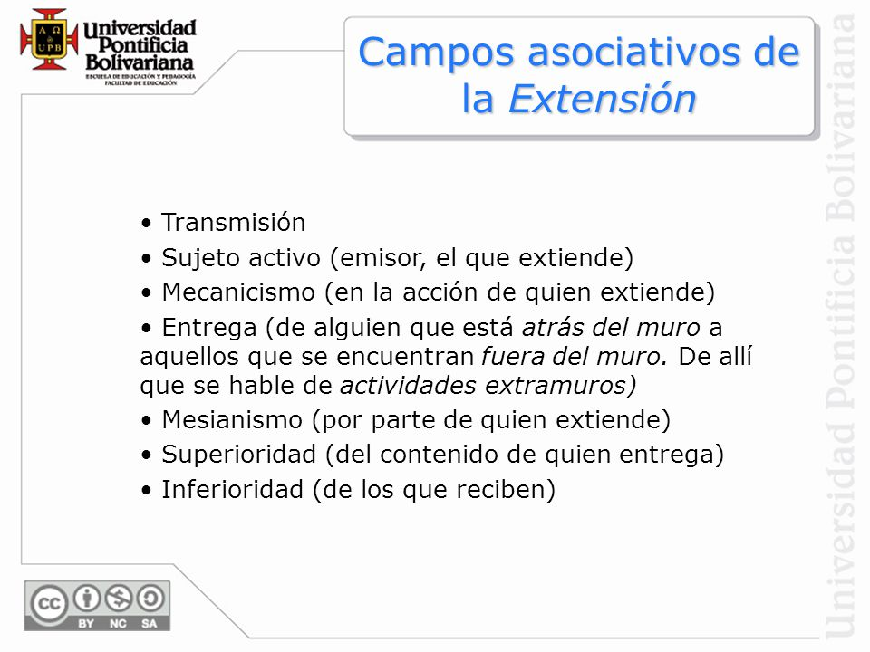 Campos asociativos de la Extensión