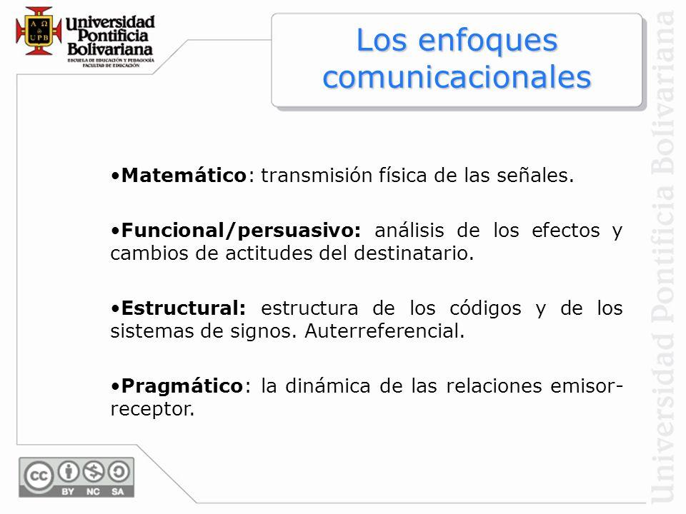 Los enfoques comunicacionales