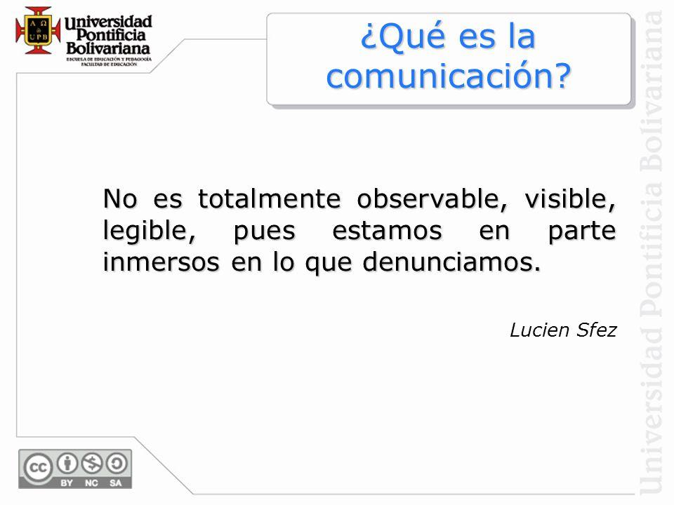 ¿Qué es la comunicación