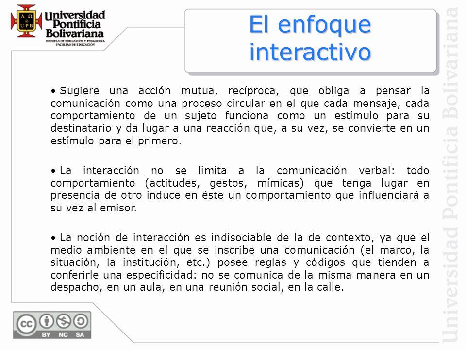 El enfoque interactivo