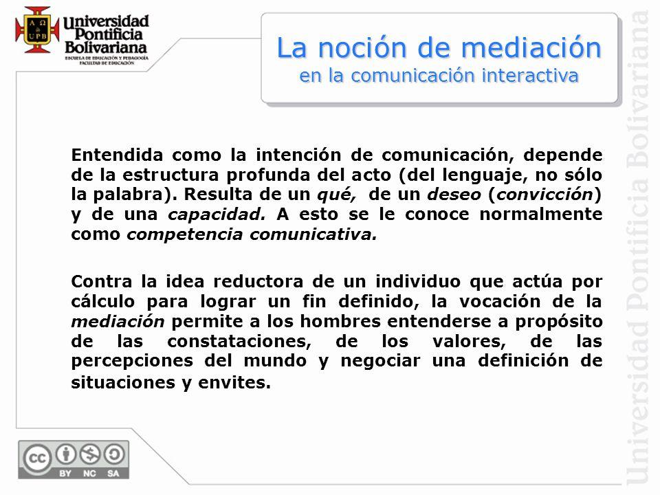 La noción de mediación en la comunicación interactiva