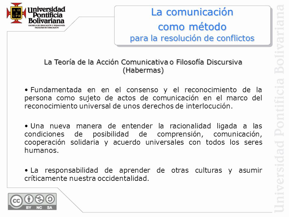 La comunicación como método para la resolución de conflictos