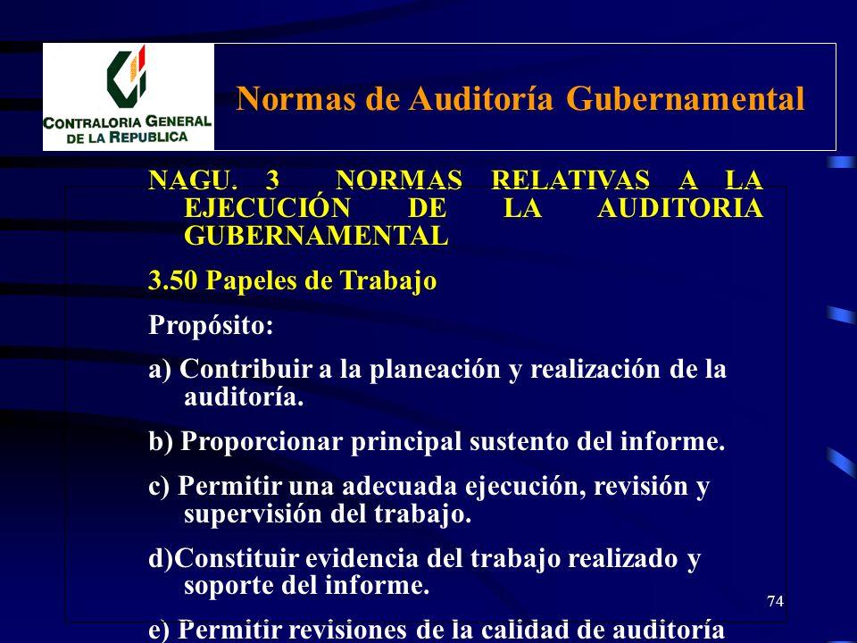 Normas de Auditoría Gubernamental