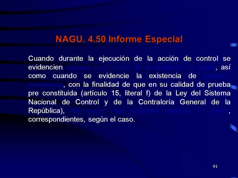 NAGU. 4.50 Informe Especial