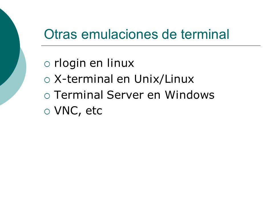 Otras emulaciones de terminal