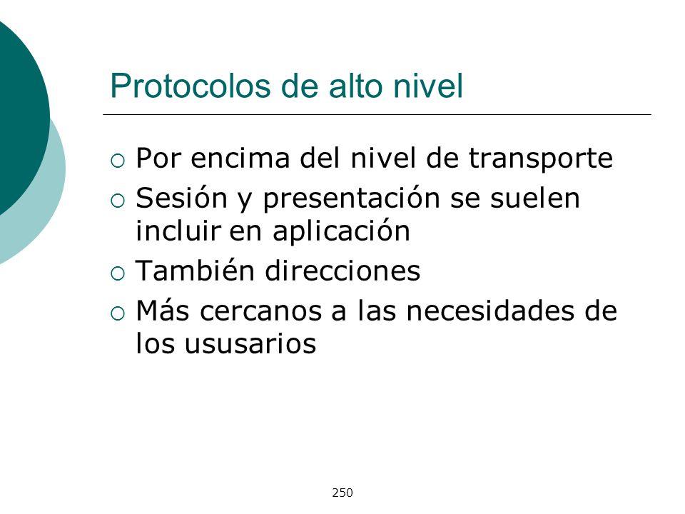 Protocolos de alto nivel