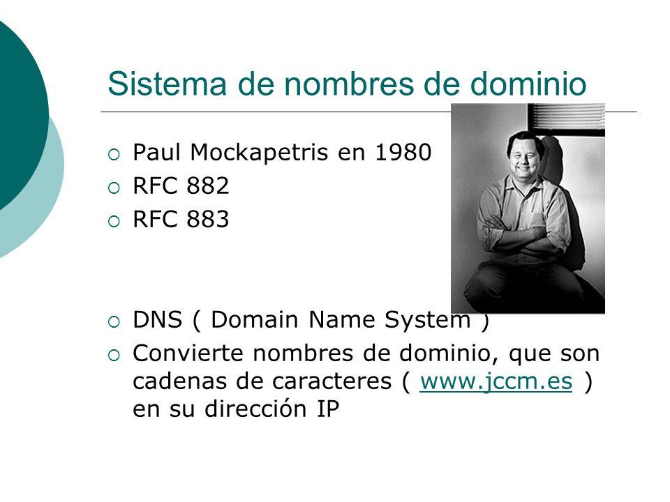 Sistema de nombres de dominio