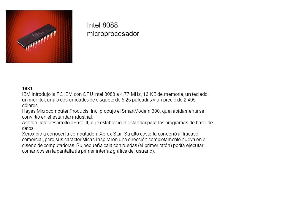 Intel 8088 microprocesador