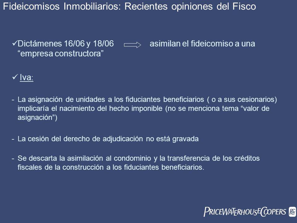 Fideicomisos Inmobiliarios: Recientes opiniones del Fisco