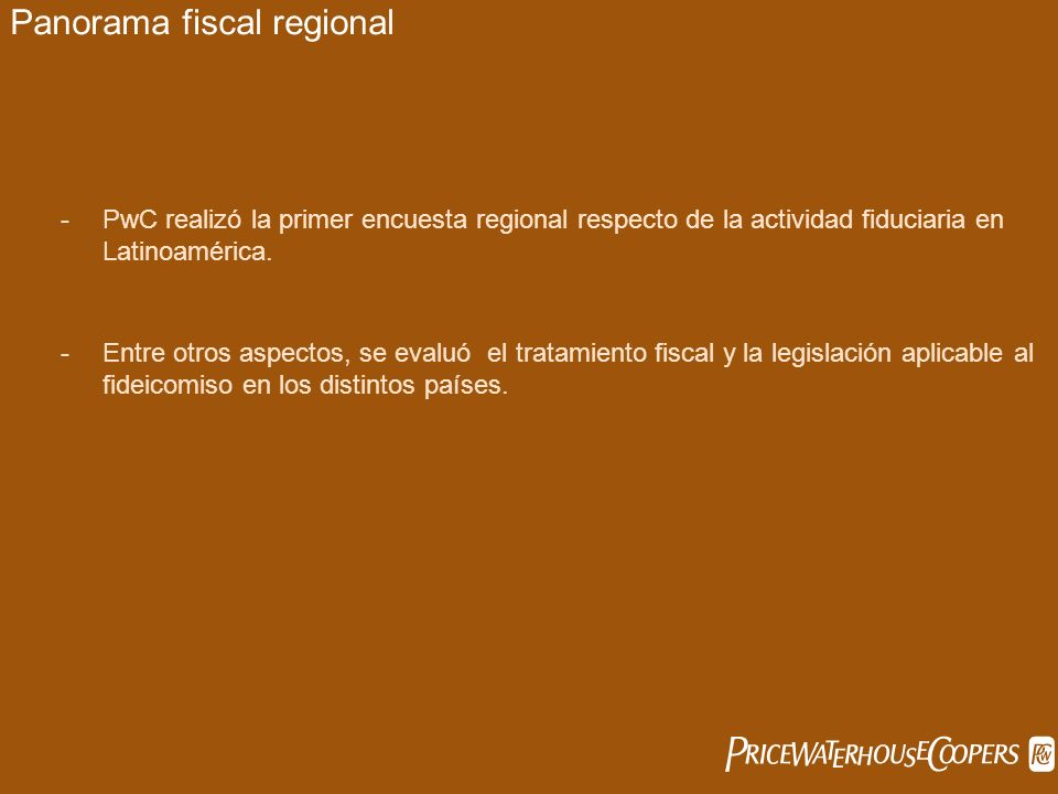 Panorama fiscal regional