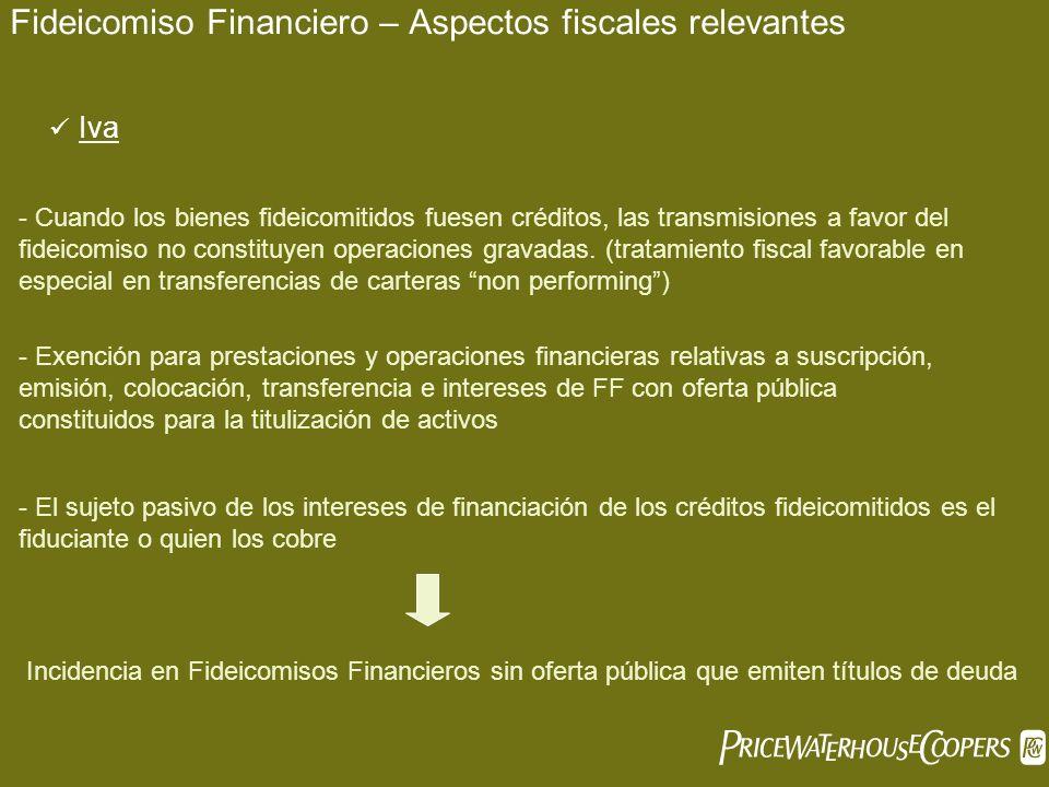 Fideicomiso Financiero – Aspectos fiscales relevantes