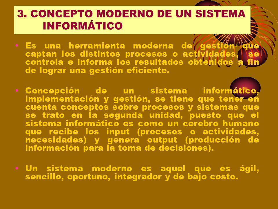 3. CONCEPTO MODERNO DE UN SISTEMA INFORMÁTICO