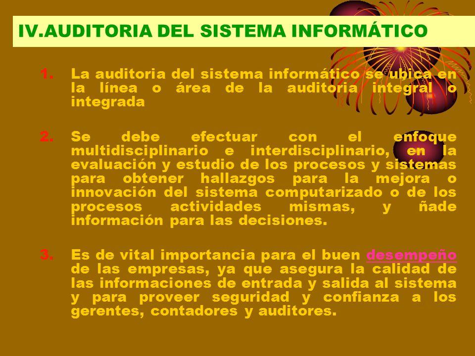 IV.AUDITORIA DEL SISTEMA INFORMÁTICO