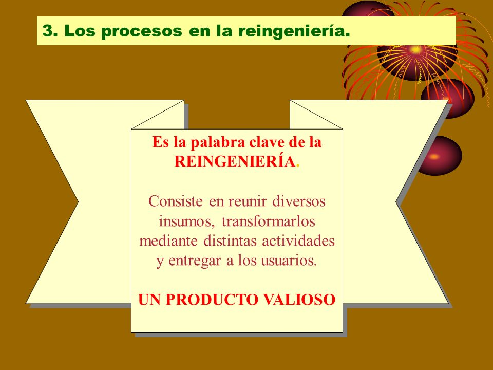 3. Los procesos en la reingeniería.