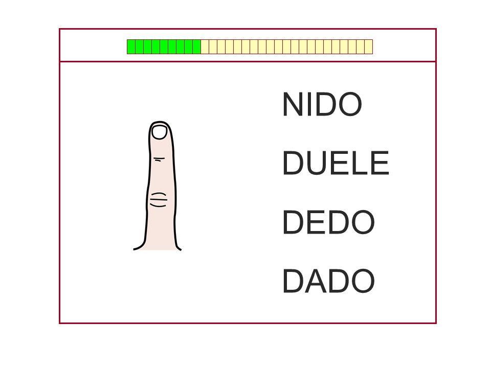NIDO DUELE DEDO DADO