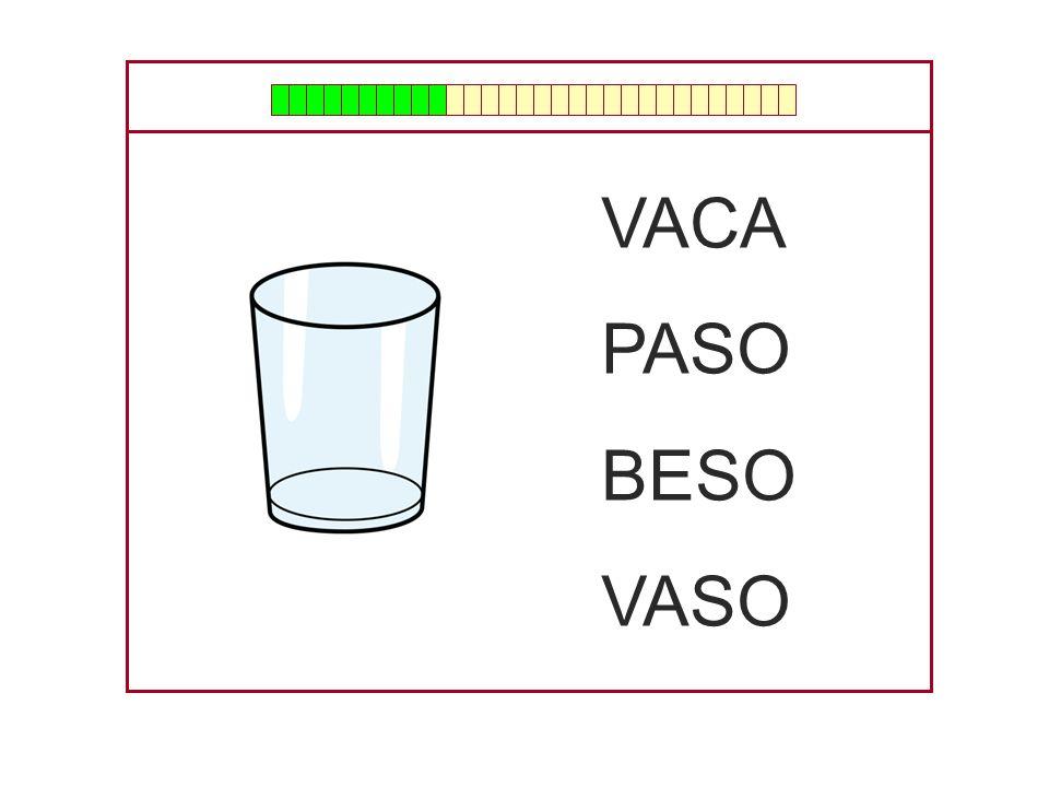 VACA PASO BESO VASO