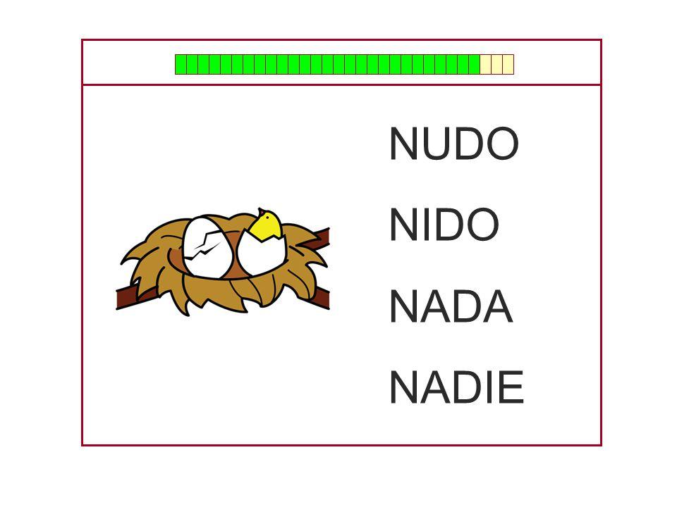 NUDO NIDO NADA NADIE