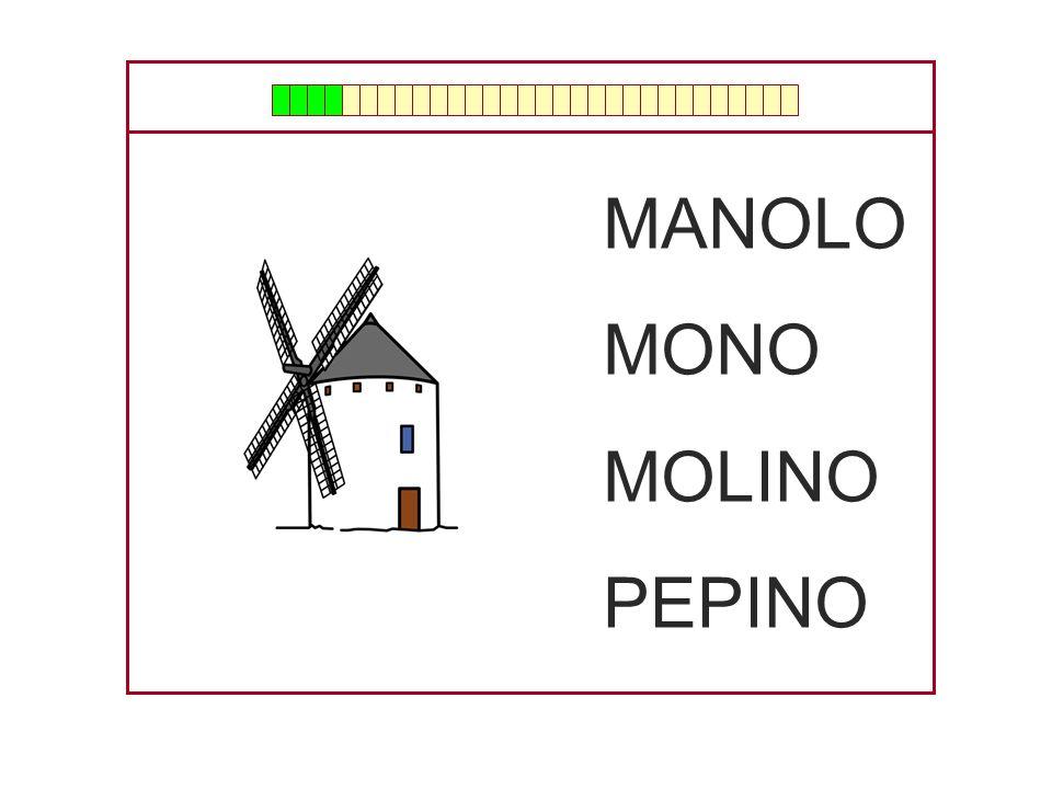 MANOLO MONO MOLINO PEPINO