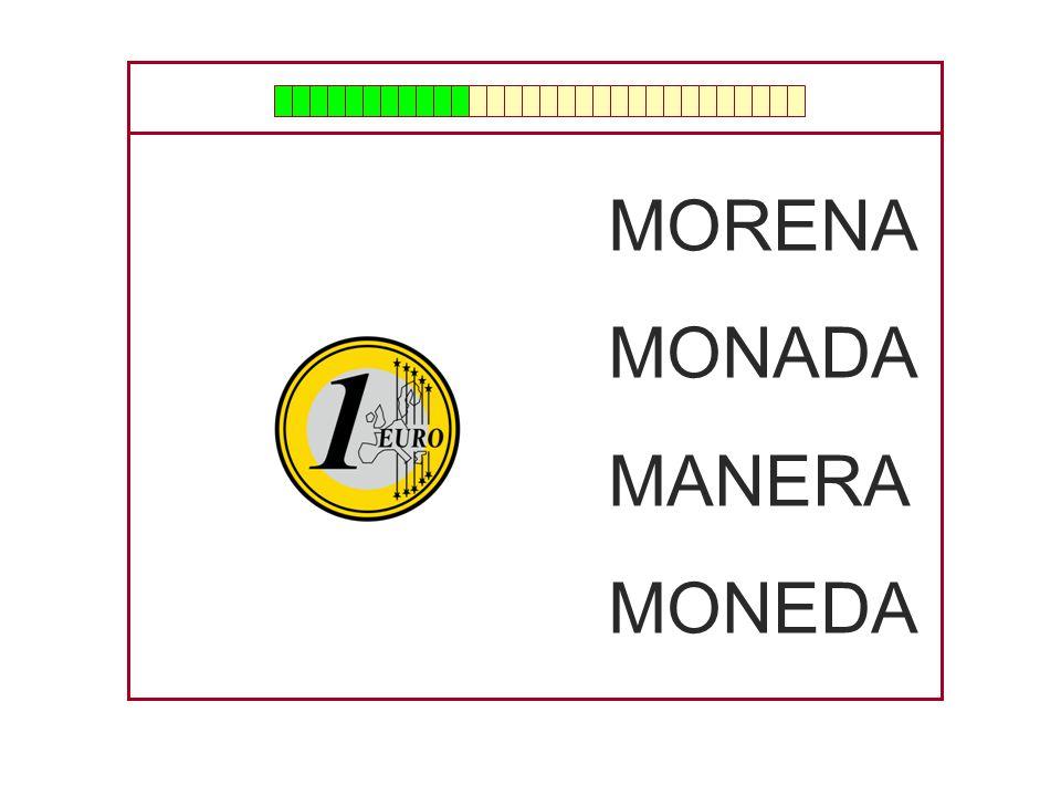 MORENA MONADA MANERA MONEDA