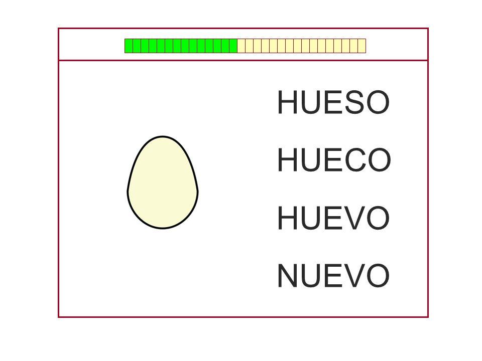 HUESO HUECO HUEVO NUEVO