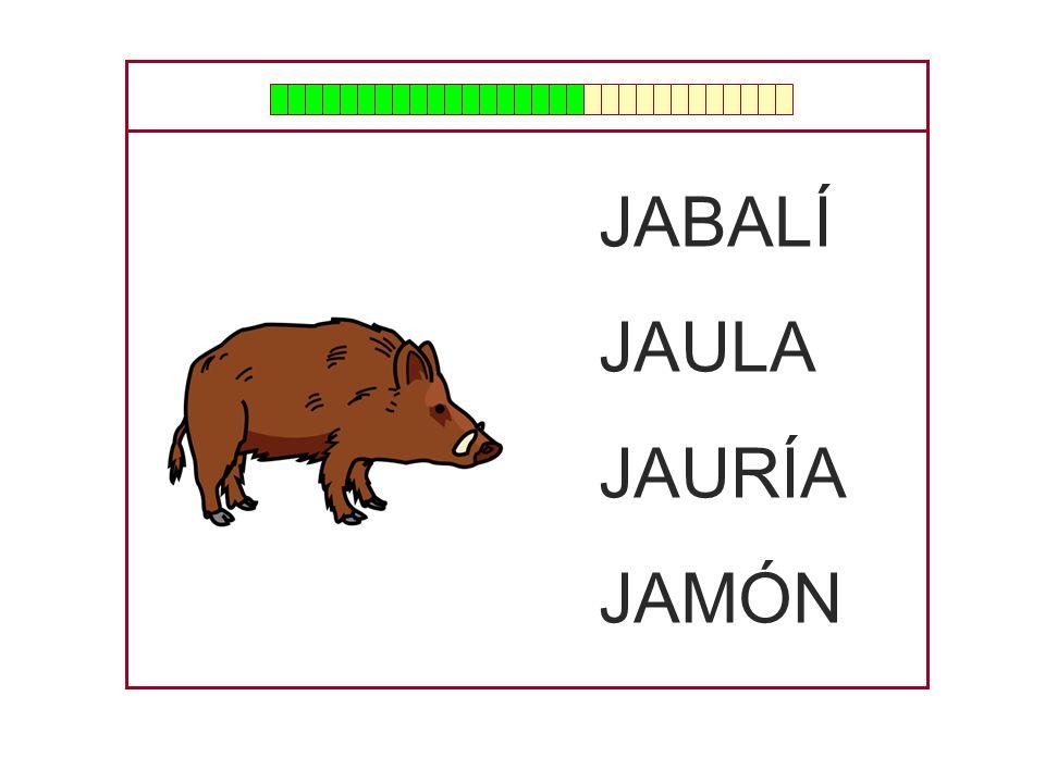 JABALÍ JAULA JAURÍA JAMÓN