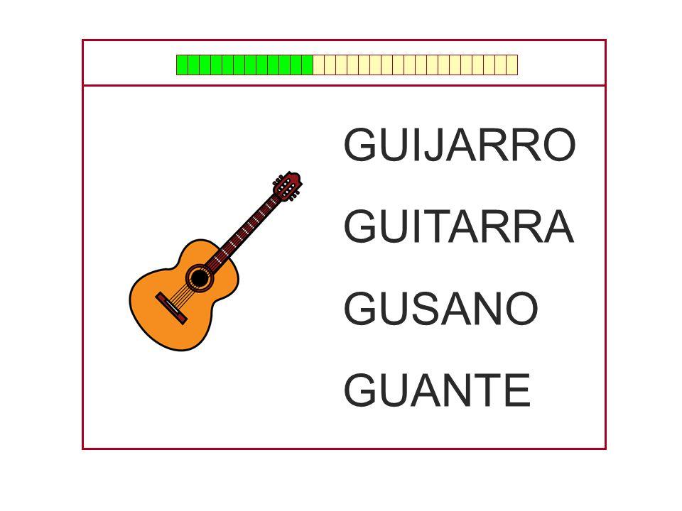 GUIJARRO GUITARRA GUSANO GUANTE