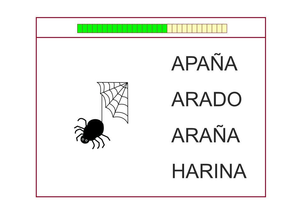 APAÑA ARADO ARAÑA HARINA