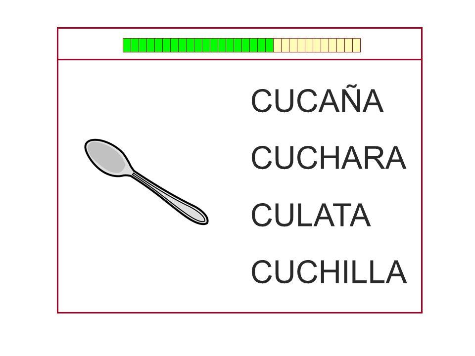 CUCAÑA CUCHARA CULATA CUCHILLA
