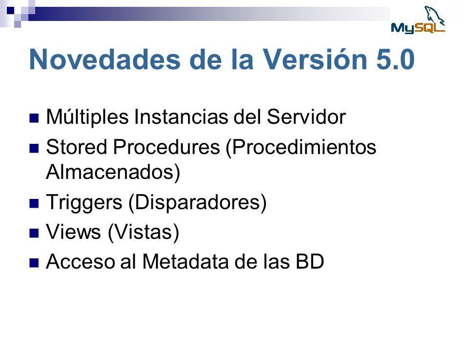 Novedades de la Versión 5.0