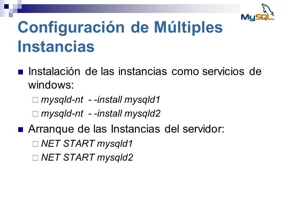Configuración de Múltiples Instancias