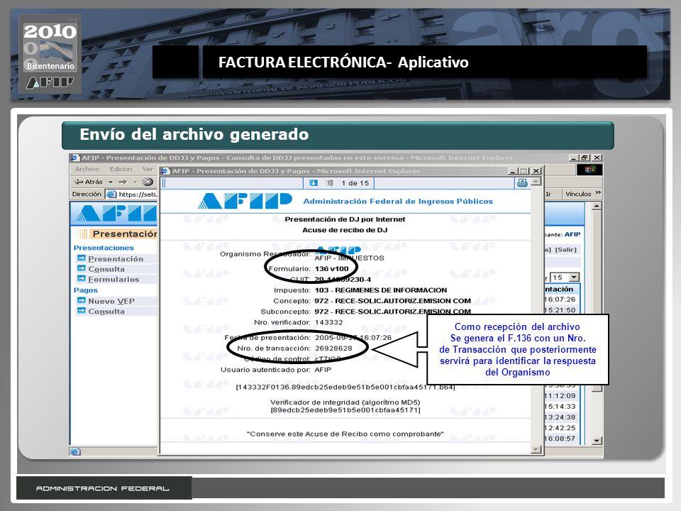 FACTURA ELECTRÓNICA- Aplicativo
