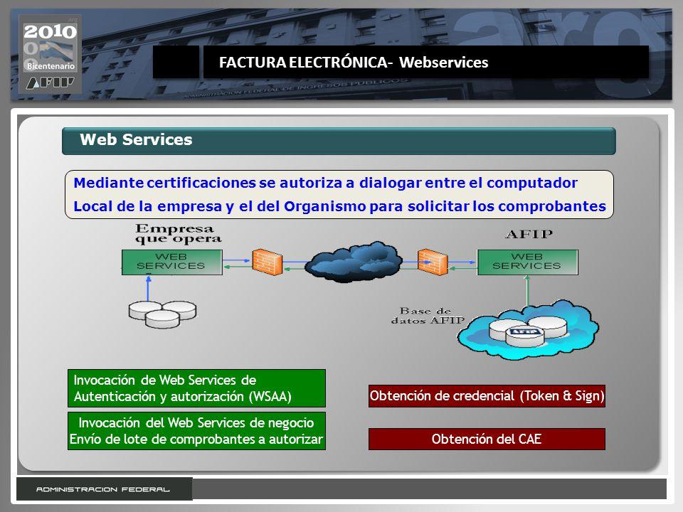 FACTURA ELECTRÓNICA- Webservices