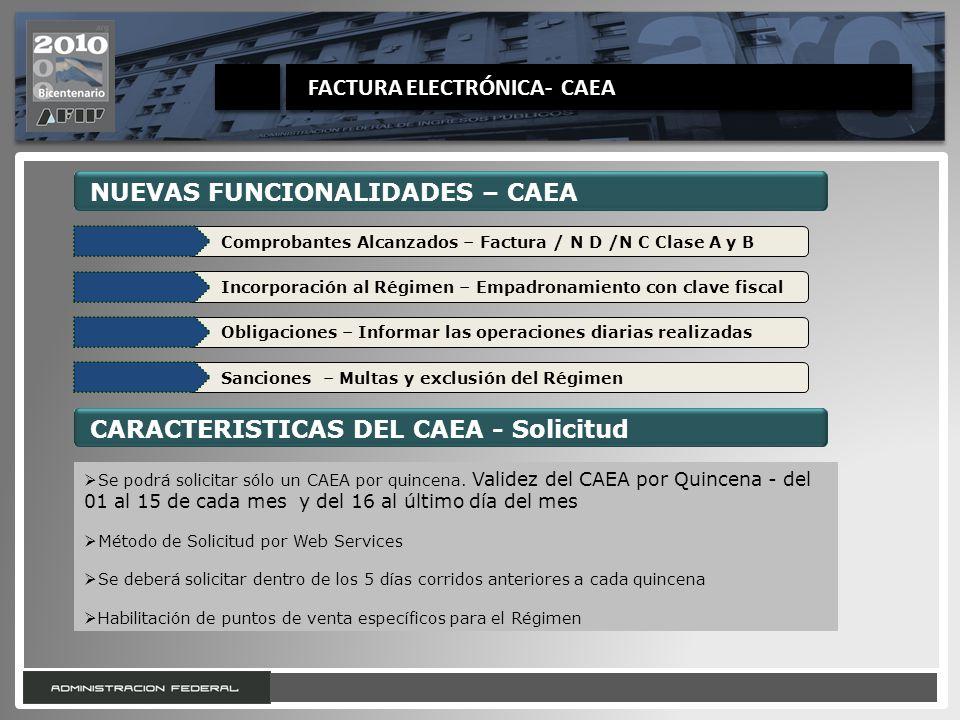 FACTURA ELECTRÓNICA- CAEA