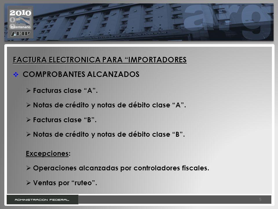 FACTURA ELECTRONICA PARA IMPORTADORES