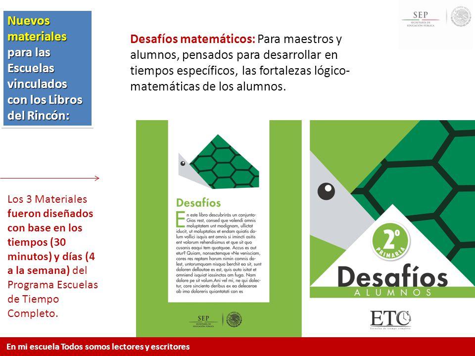 Nuevos materiales para las Escuelas vinculados con los Libros del Rincón: