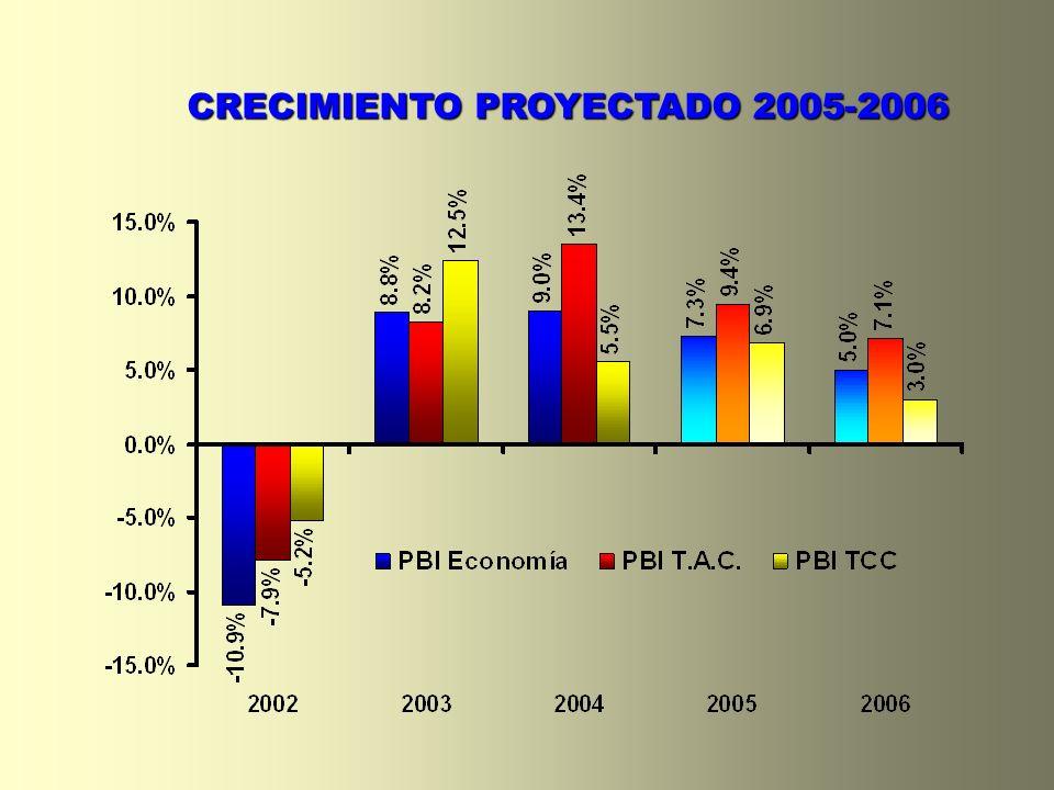 CRECIMIENTO PROYECTADO 2005-2006