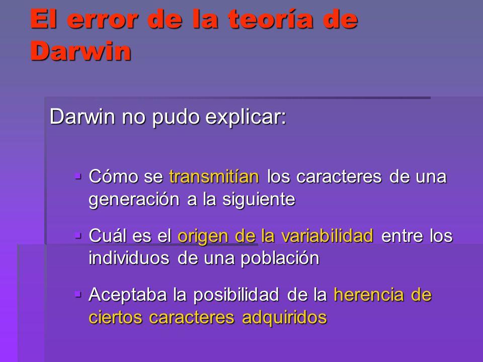 El error de la teoría de Darwin