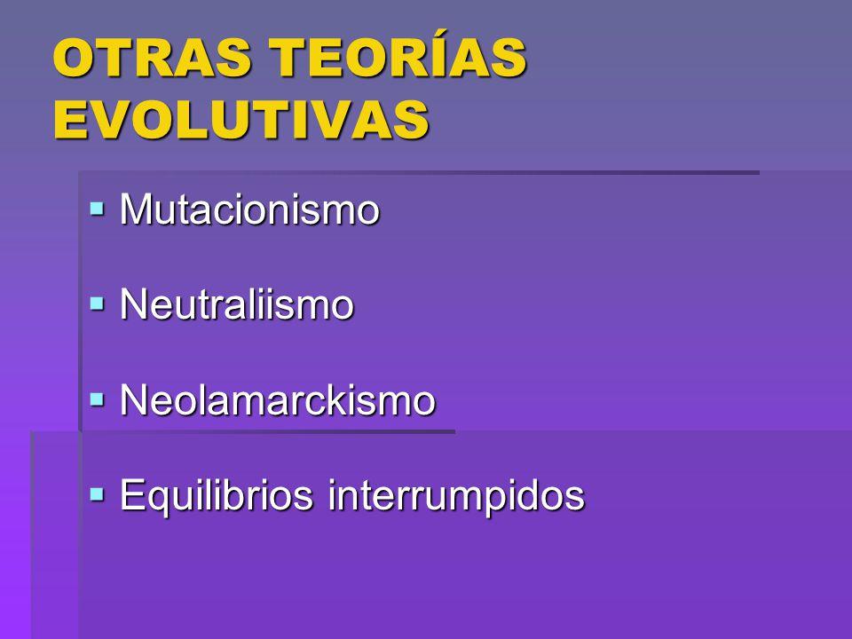 OTRAS TEORÍAS EVOLUTIVAS