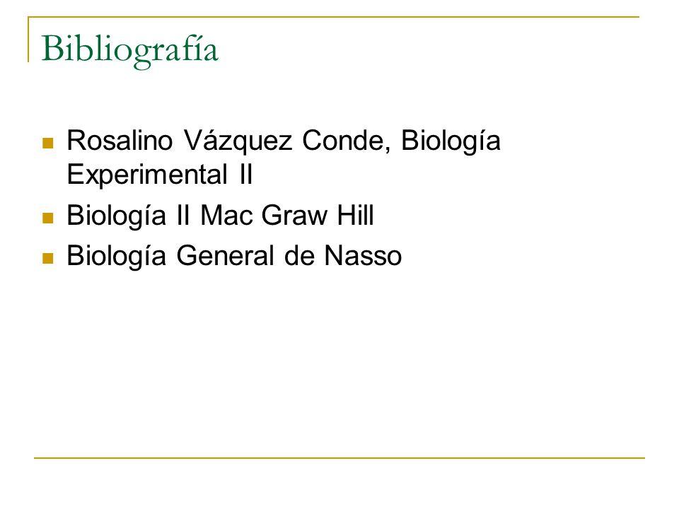 Bibliografía Rosalino Vázquez Conde, Biología Experimental II