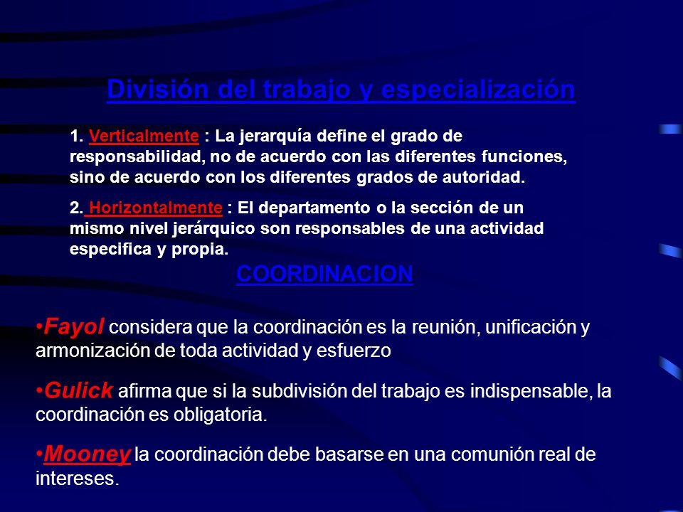 División del trabajo y especialización