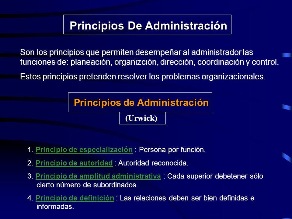 Principios De Administración Principios de Administración