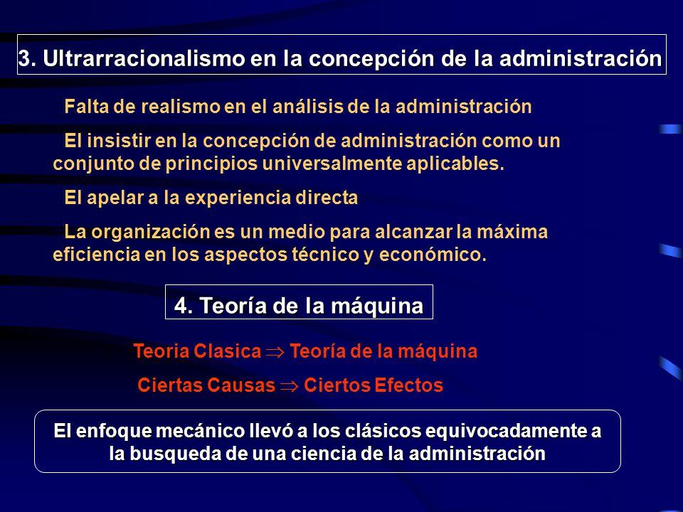 3. Ultrarracionalismo en la concepción de la administración