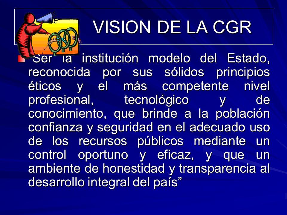 VISION DE LA CGR