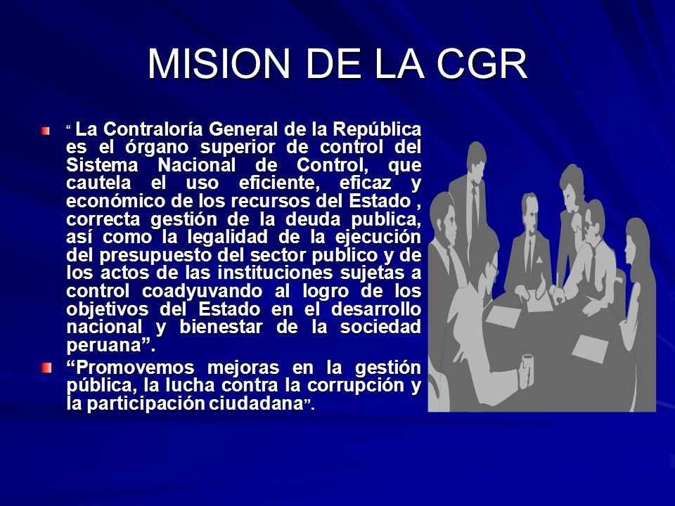 MISION DE LA CGR