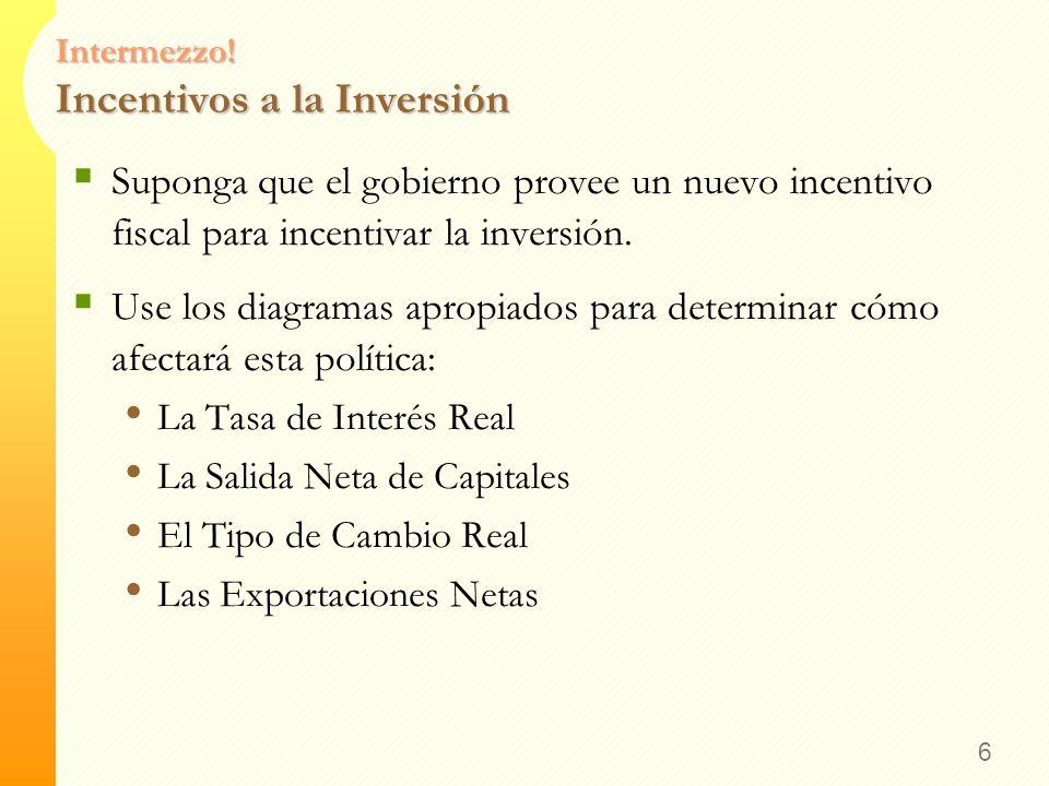 Intermezzo! Incentivos a la Inversión