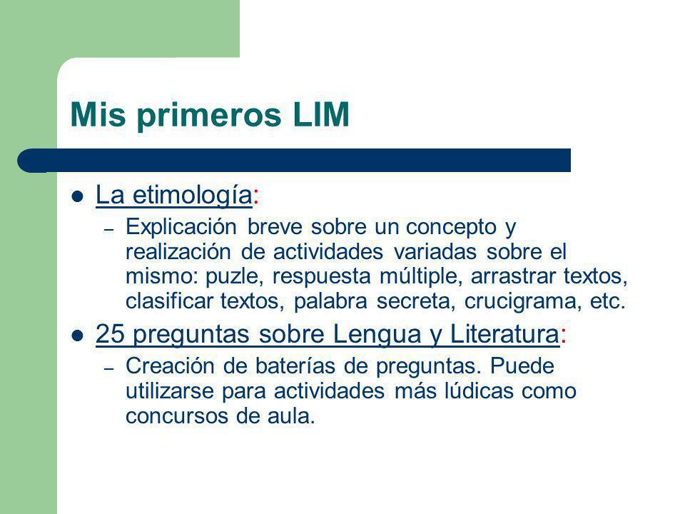 Mis primeros LIM La etimología: