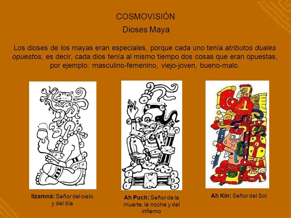 COSMOVISIÓN Dioses Maya