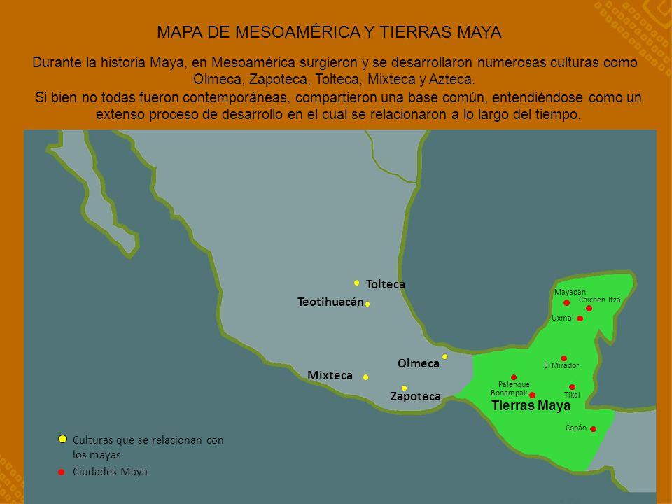 MAPA DE MESOAMÉRICA Y TIERRAS MAYA