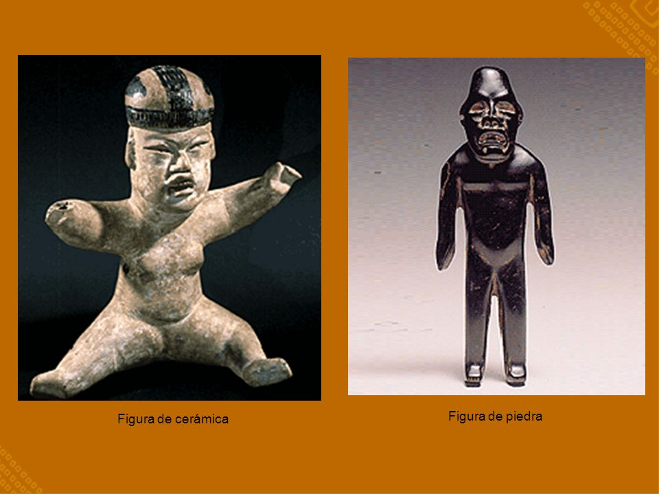 Figura de cerámica Figura de piedra